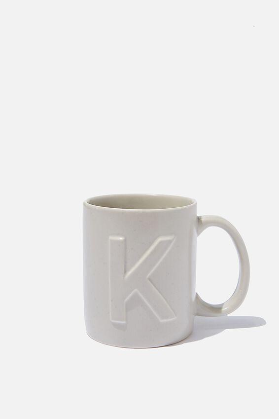 Alphabet Anytime Mug, SPECKLED K