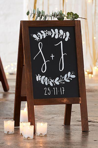 A3 Easel Chalkboard, VINTAGE