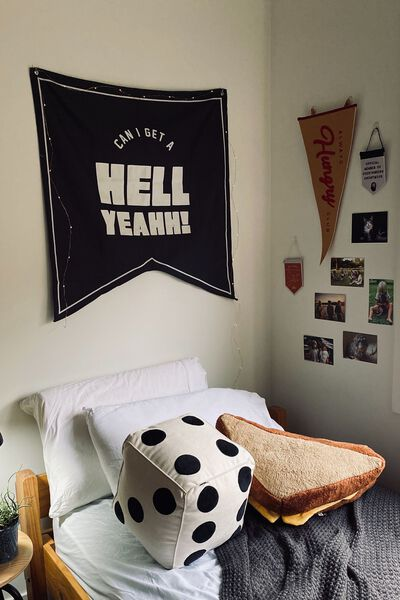 Large Pennant Wall Flag, HELL YEAH!