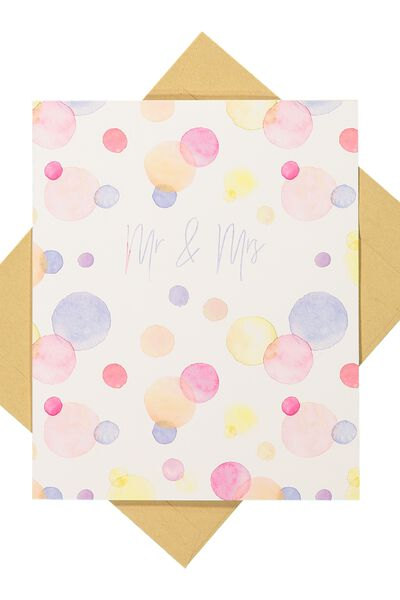 Wedding Card, MR & MRS SPOT