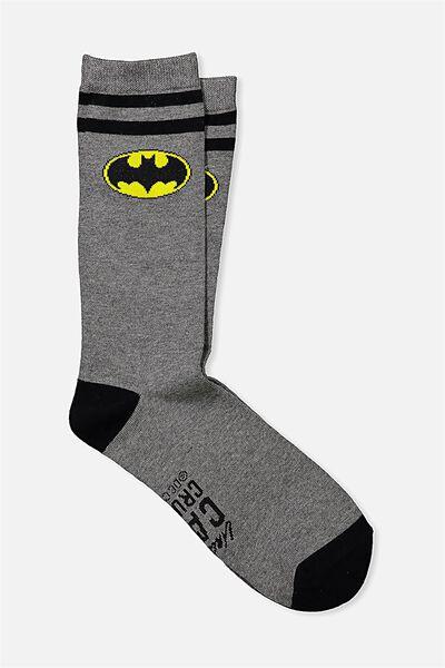 Mens Novelty Socks, LCN CAPED CRUSADER