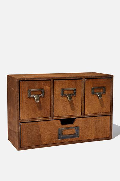 Desk Storage, VINTAGE WOOD
