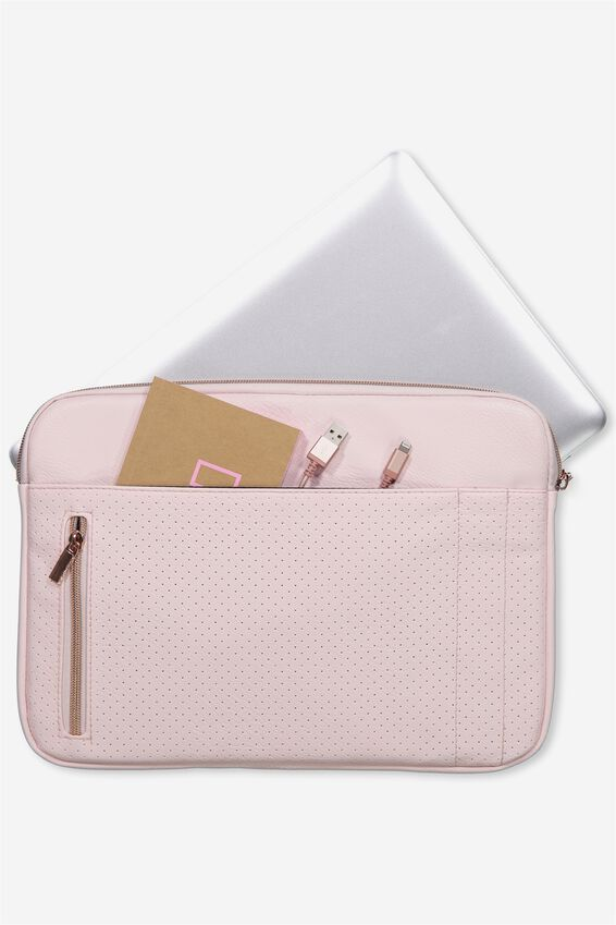 """Take Charge Laptop Cover 13"""", BLUSH PERFORATED"""