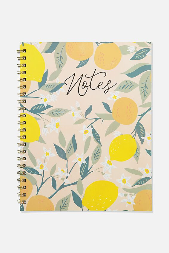 A4 Campus Notebook Recycled, FRUIT NOTES