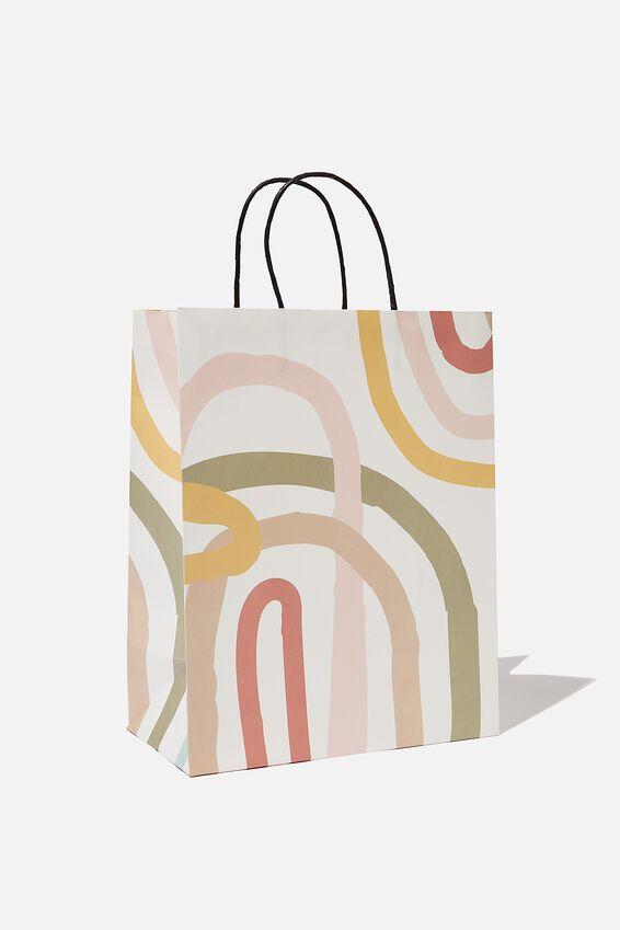 Get Stuffed Gift Bag - Medium, MODERN RAINBOW