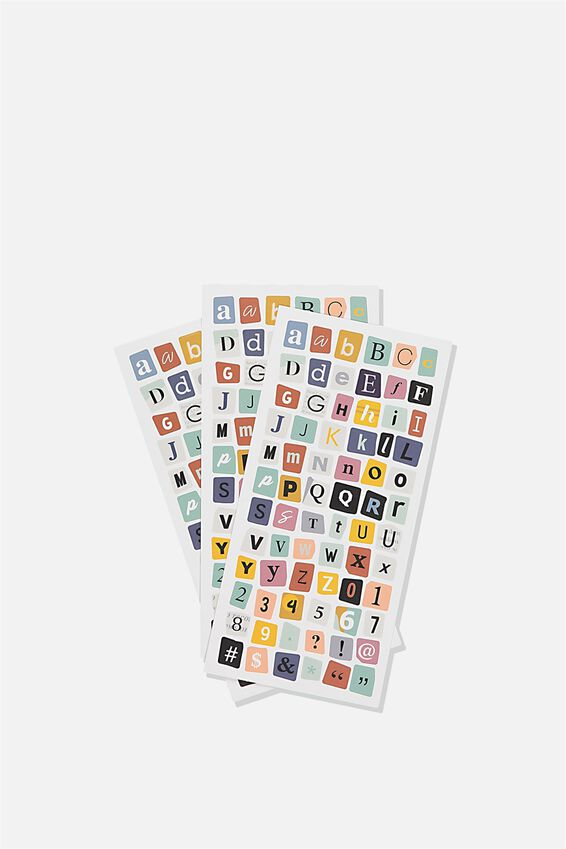 Sticker Pack, RANSOM ALPHABET