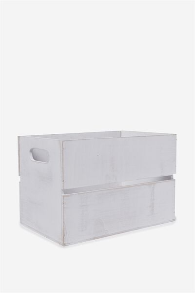 Wooden Crate, WHITE WASH