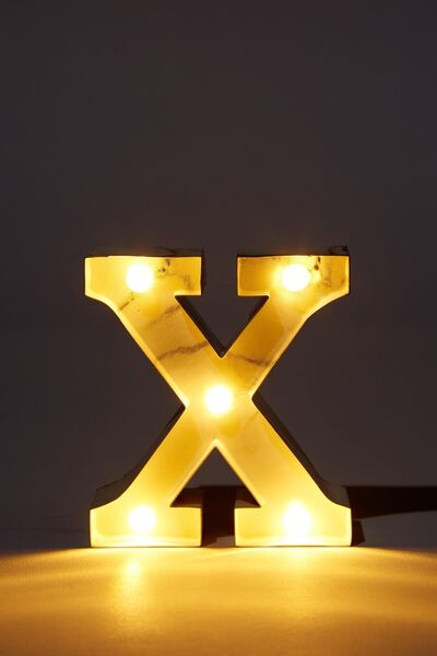 Mini Marquee Letter Lights 10cm, MARBLE X