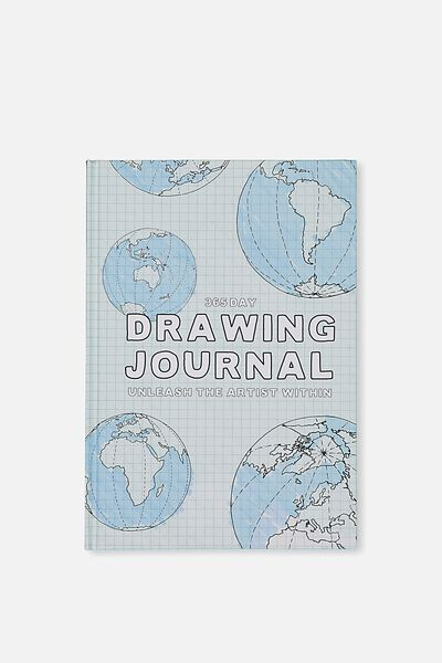 Activity Time Journal A5, WORLD DRAWING