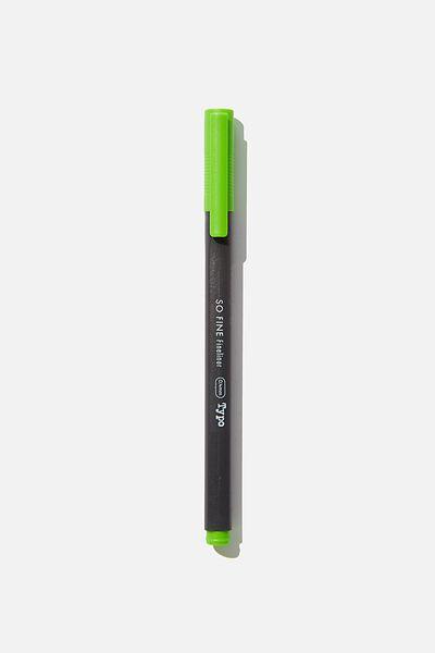 So Fine Fineliner Pen, LIGHT GREEN