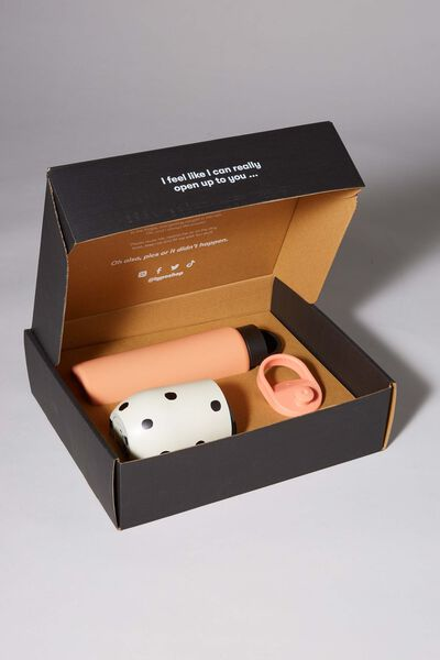 Happy Hour Gift Box, PEACH AND OVERSIZED POLKA