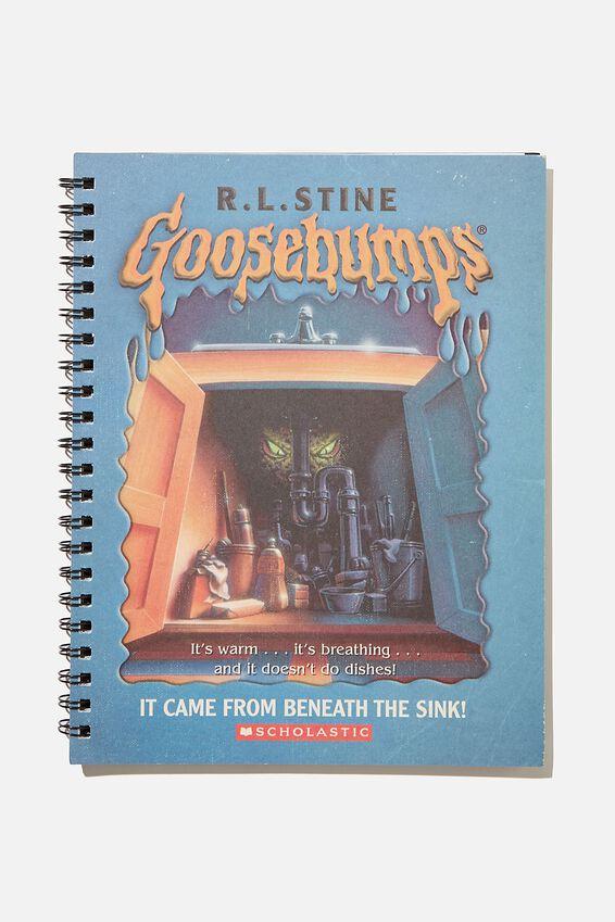 A4 Goosebumps Campus Notebook Recycled, LCN SON GOOSEBUMPS BLUE