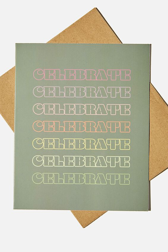 Congratulations Card, CELEBRATE MULTI REPEAT