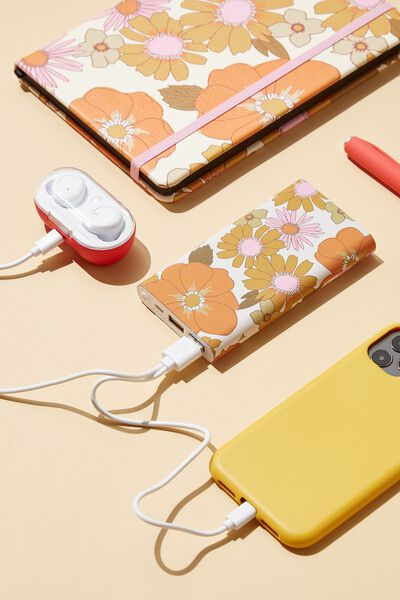 Ultimate Charge It Charger, STEVIE FLORAL ORANGE & PINK