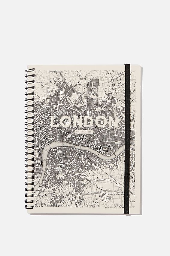 A5 Spinout Notebook Recycled, LONDON STREET MAP