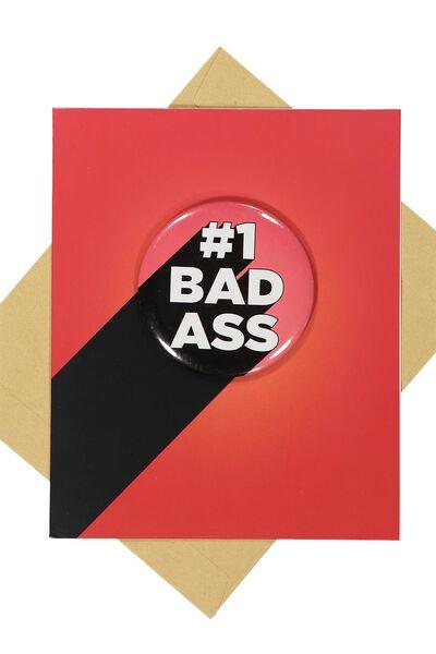 Premium Blank Card, #1 BADASS BADGE!