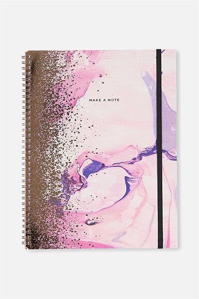 A4 Spinout Notebook - 120 Pages, MARBLE SPRAY