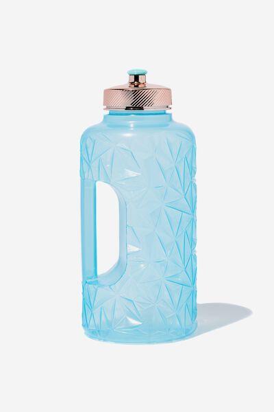Faceted Drink Bottle, LIGHT BLUE