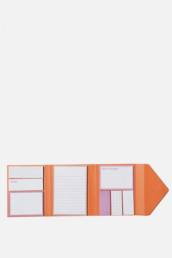 Pocket Sticky Note Set, BRICK