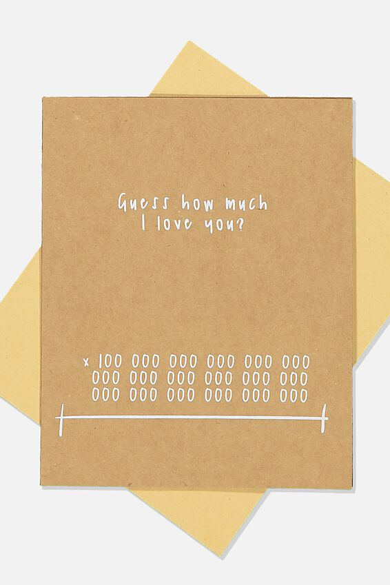 Love Card, GUESS HOW MUCH I LOVE YOU KRAFT