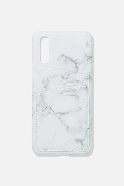 Cardholder Phone Case Huawei P20, MARBLE