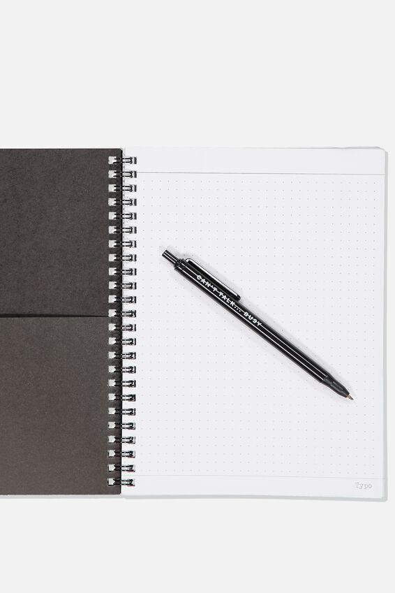 A5 Spinout Notebook Dot Page, WORK UMM