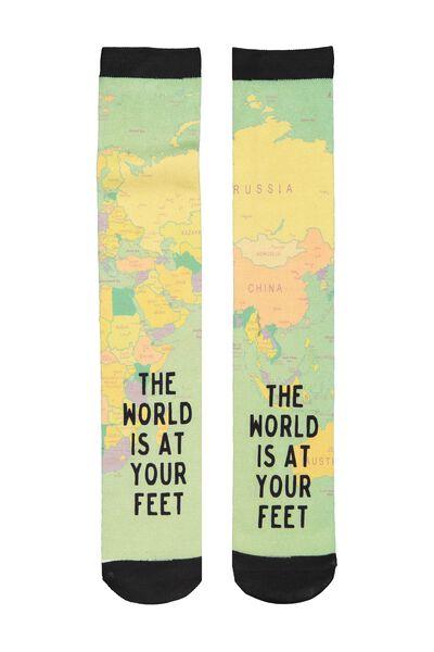 Mens Novelty Socks, WORLD MAP
