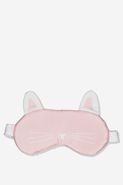 Premium Sleep Eye Mask, PINK CAT