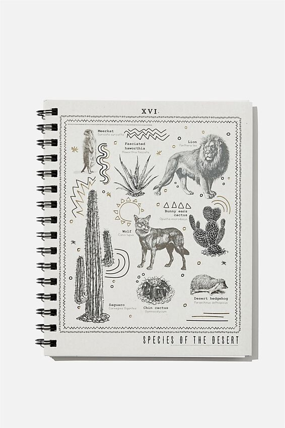 A5 Campus Notebook Recycled, SPECIES OF THE DESERT