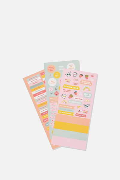 Sticker Pack, MINT & PINK