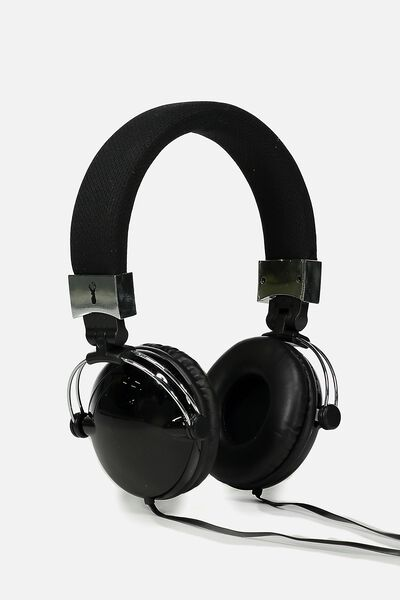 Tune Out Headphones, BLACK METALLIC TEXTURE