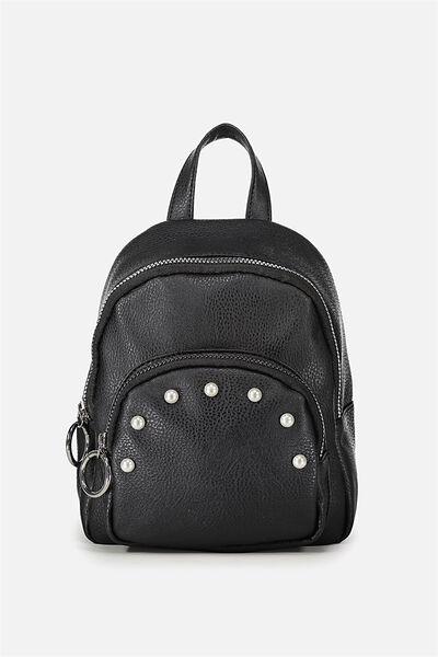 Mini Madrid Backpack, BLACK PEARLS