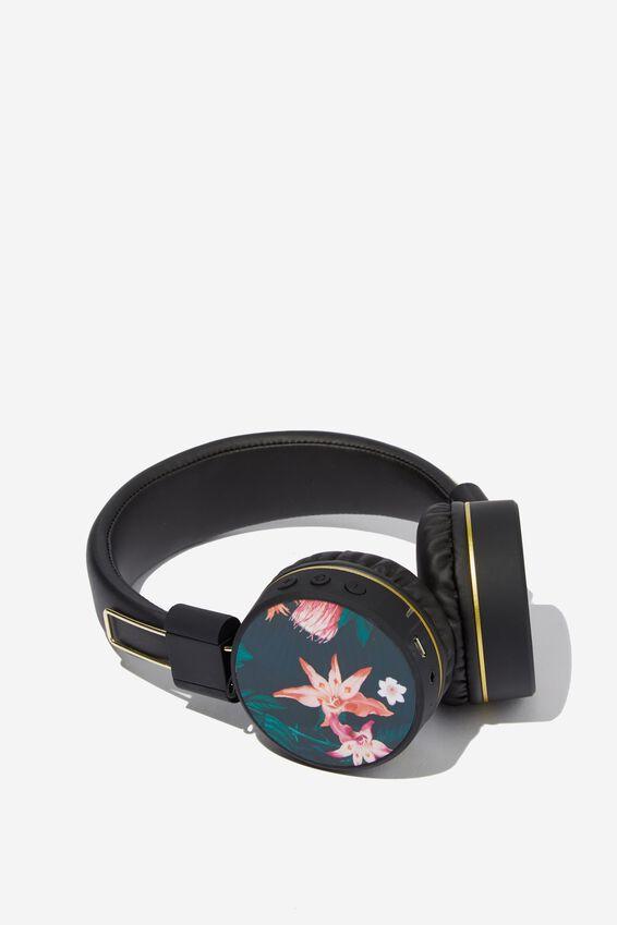 Creative Signal Wireless Headphones, JUNGLE FLORAL