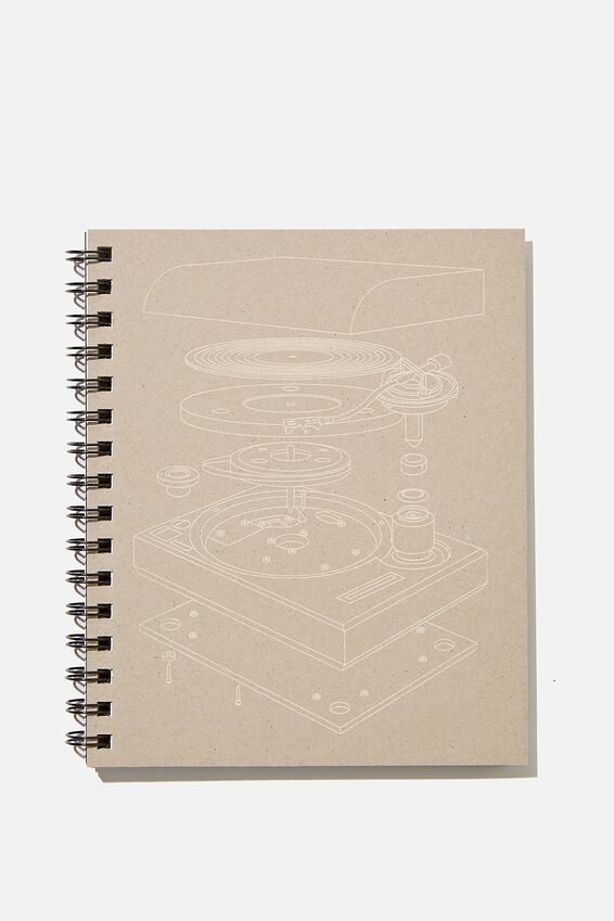 A5 Campus Notebook Recycled, RECORD PLAYER DIAGRAM