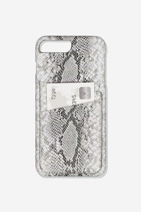 The Cardholder Phone Cover 6,7,8 Plus, SNAKE