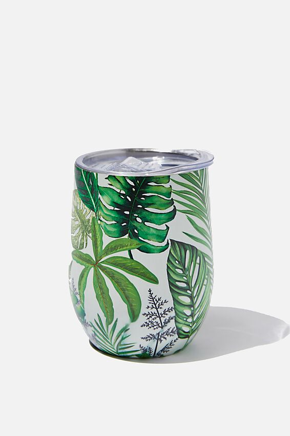 Metal Travel Tumbler, STONE FERN FOLIAGE