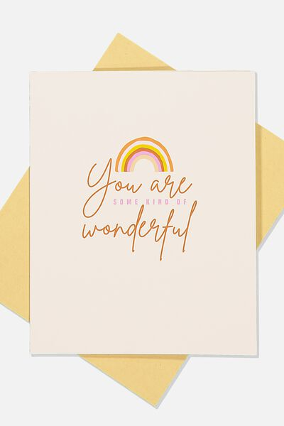 Love Card, YOU ARE SOME KIND OF WONDERFUL RAINBOW