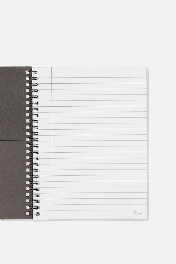 A5 Spinout Notebook Recycled, BW DOLLY DAISY