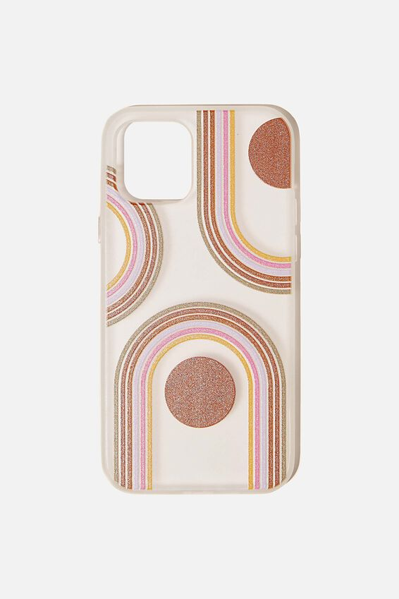 Snap On Protective Phone Case Iphone 12, 12 Pro, OVERSIZED RAINBOW