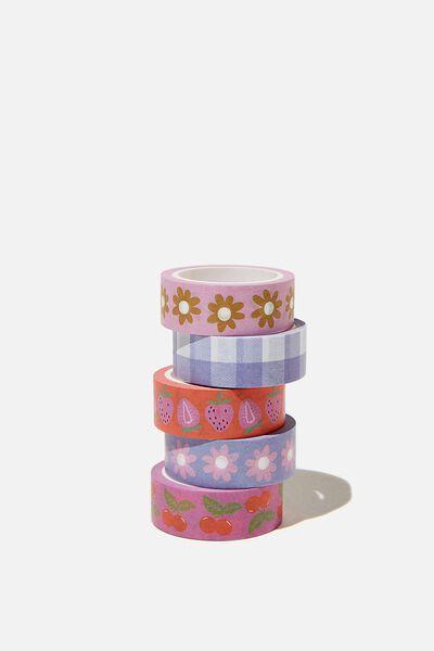 Washi Tape 5Pk, FRUITY