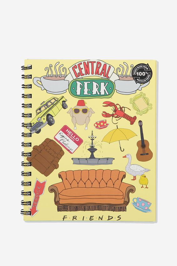 A5 Friends Campus Notebook Recycled, LCN WB FRIEND COLLAGE