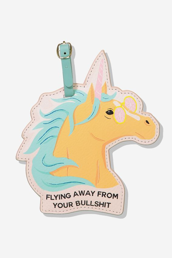 Shape Shifter Luggage Tag, MAJESTIC UNICORN!