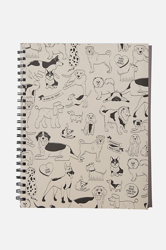 A4 Campus Notebook Recycled, DOGGOS
