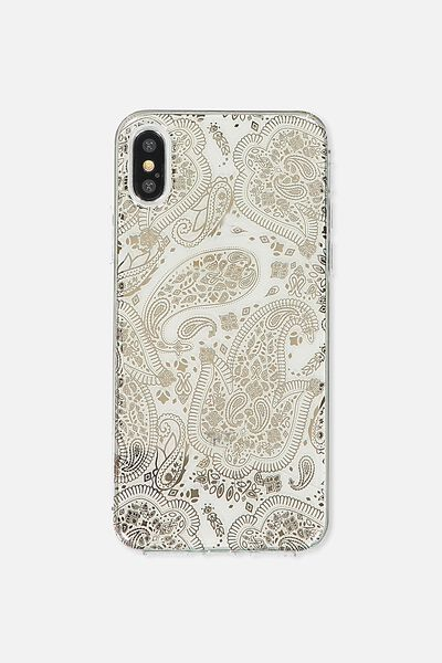 Printed Phone Cover X, ROSE GOLD LACE