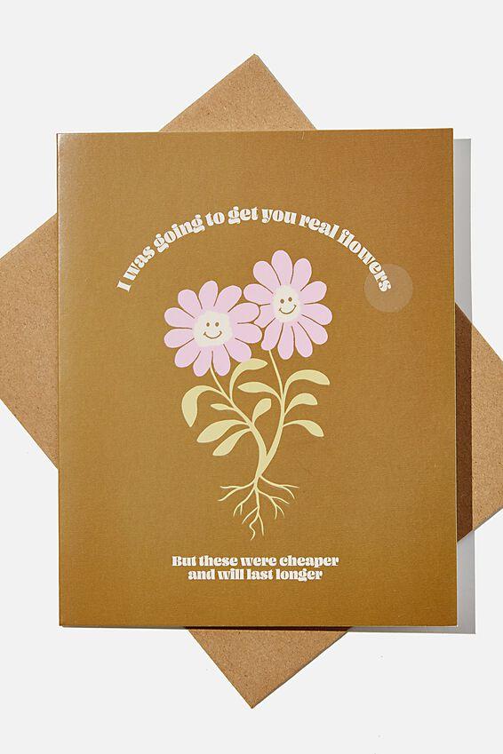 Premium Nice Birthday Card, SCENTED PRETTY DARN CUTE FLOWERS