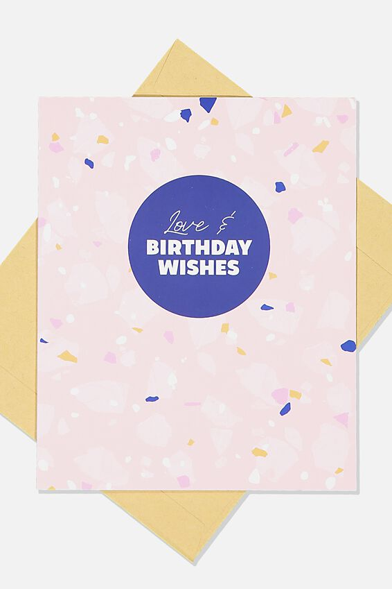 Nice Birthday Card, PINK TERRAZO BIRTHDAY WISHES