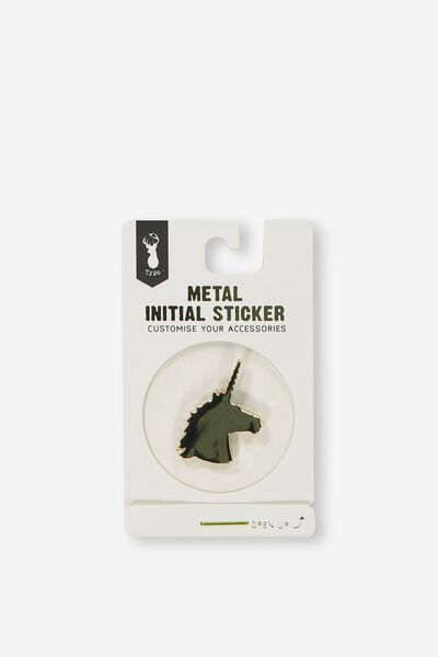 Metal Stickers, GOLD UNICORN