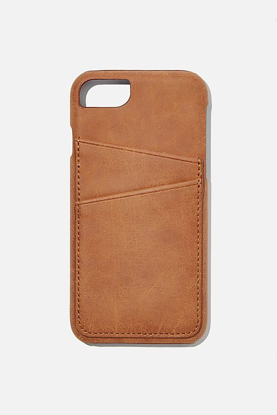 The Phone Cardholder 6,7,8, MID TAN