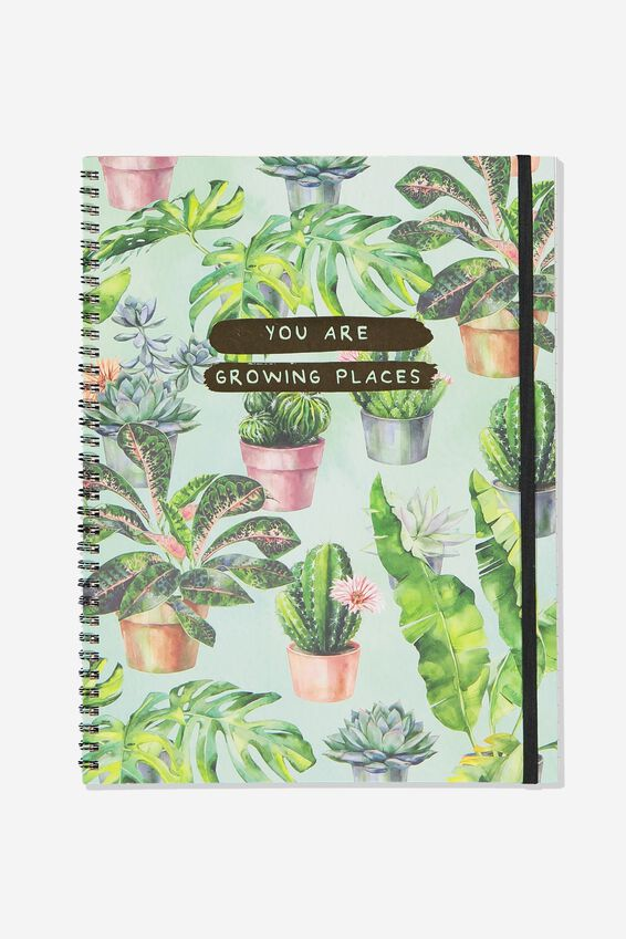 A4 Spinout Notebook Recycled, GROWING PLACES