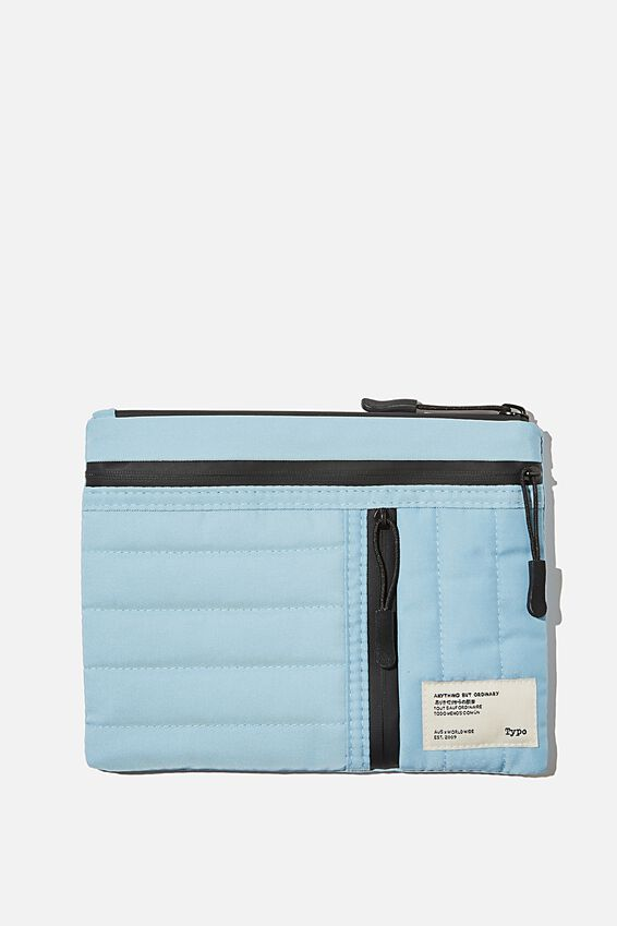 Utility Pencil Case, DENIM BLUE AND MUSTARD